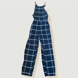 UO Hattie High-Neck Linen Jumpsuit US 2